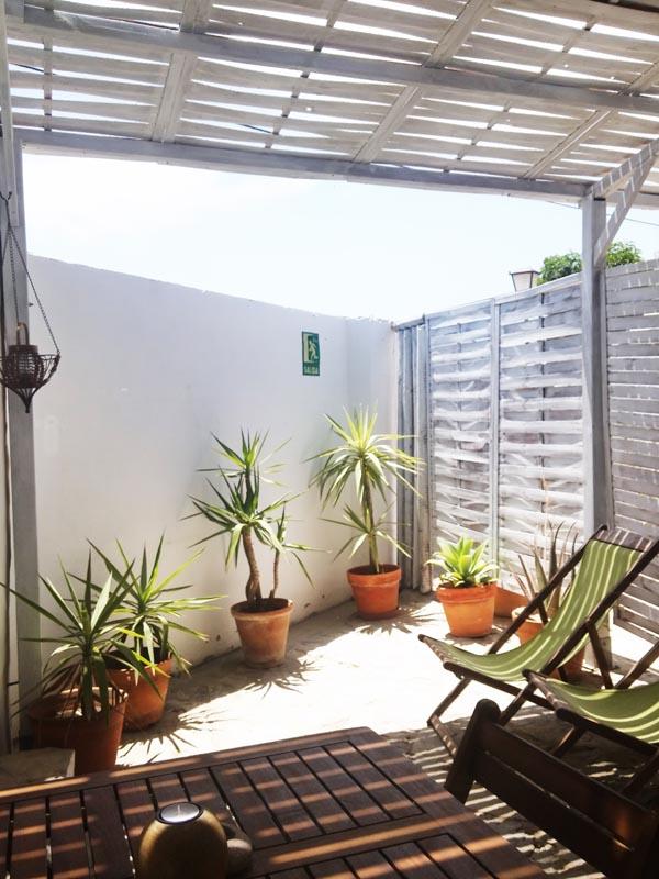 bungalow en canos de meca patio