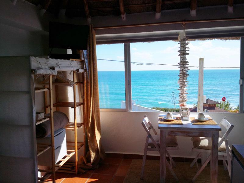 bungalow en canos de meca vista mar vistas desde la cama