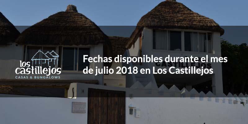 Fechas libres en finales de julio y principios de agosto 2018